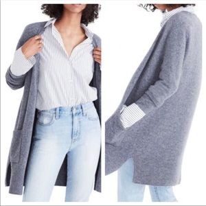Madewell Kent Cardigan Sweater Grey Size Small